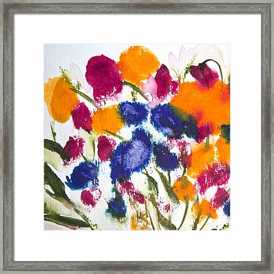 Framed Print featuring the painting Poppy Garden by Linde Townsend