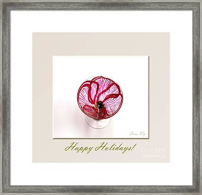 Poppy. Happy Holidays Framed Print by Oksana Semenchenko