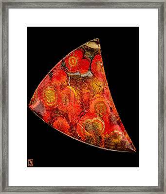 Poppy Jasper Cabochon Opus01 Framed Print