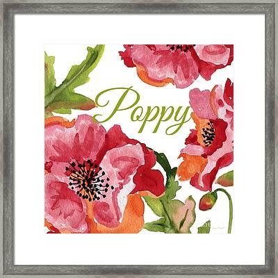 Poppy-jp2588 Framed Print by Jean Plout