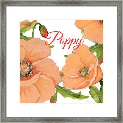Poppy-jp2589 Framed Print by Jean Plout