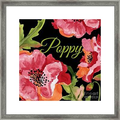 Poppy-jp2596 Framed Print by Jean Plout