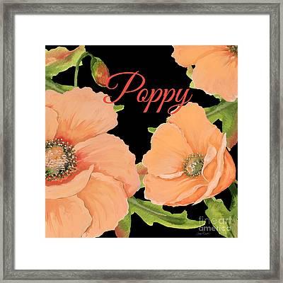 Poppy-jp2697 Framed Print by Jean Plout