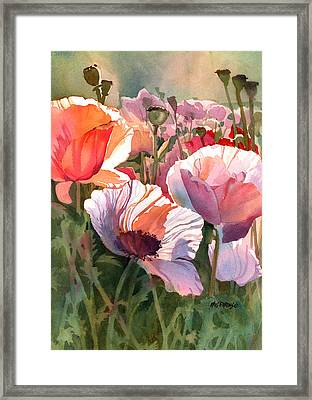 Poppy Madness Framed Print