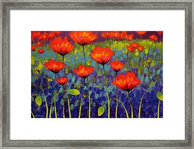 Poppy Meadow   Cropped 2 Framed Print by John  Nolan