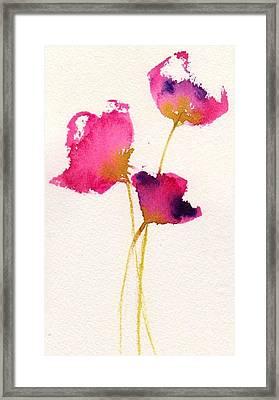 Poppy Pirouette Framed Print by Anne Duke