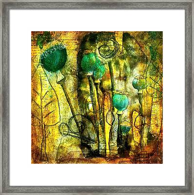 Poppy Pods Framed Print by Bellesouth Studio