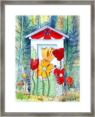 Poppy Potty Framed Print by Teresa Ascone
