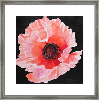 Framed Print featuring the painting Poppy Power by M Diane Bonaparte