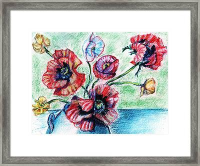 Poppy Power Framed Print by Madeline Moore