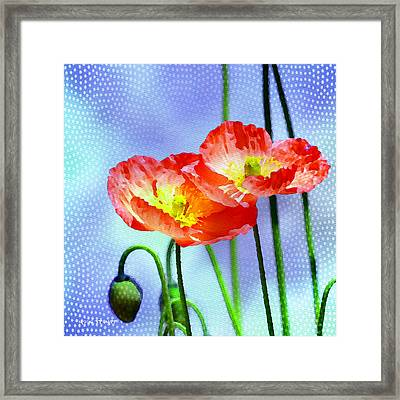 Poppy Series - Garden Views Framed Print by Moon Stumpp