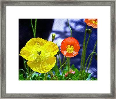 Poppy Series - Soaking Up Sunbeams Framed Print by Moon Stumpp