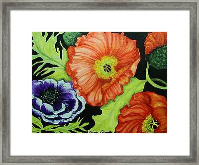 Poppy Surprise Framed Print by Diana Dearen
