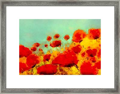 Framed Print featuring the painting Poppy Time by Valerie Anne Kelly