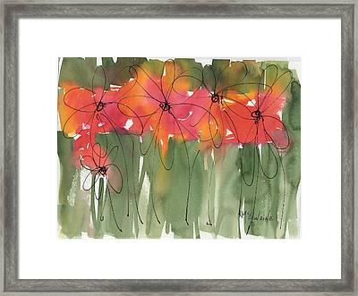 Poppy To Posy Framed Print