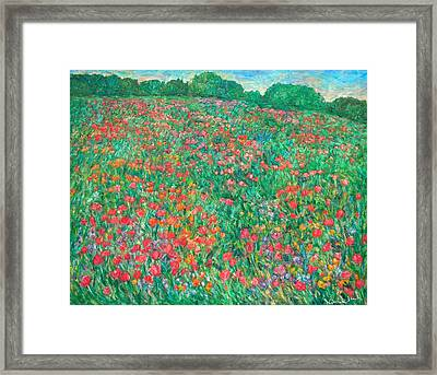 Poppy View Framed Print