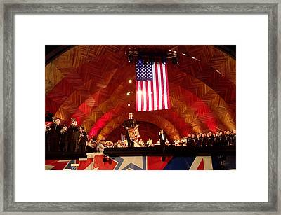 Framed Print featuring the photograph Pops Finale by Barbara McDevitt