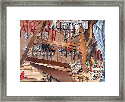 Pop's Work Bench Framed Print