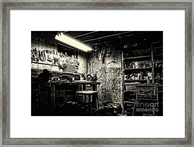 Pop's Workshop Framed Print by HD Connelly