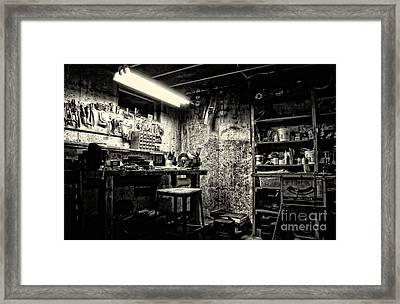 Pop's Workshop Framed Print