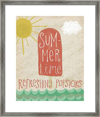 Popsicles Framed Print