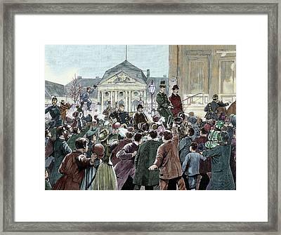 Popular Ovation To The Prince Bismarck Framed Print