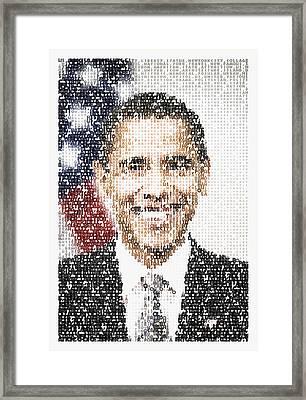 Popular President Obama Typography Portrait Framed Print