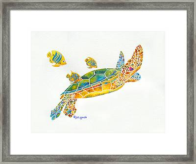 Popular Sea Turtle Framed Print by Jo Lynch