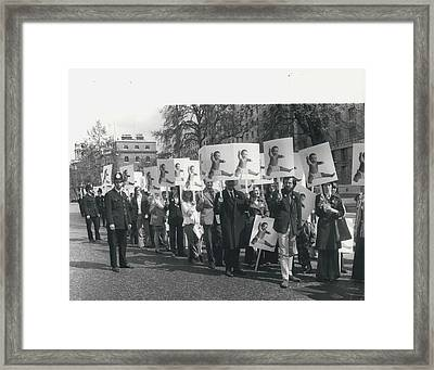 Population Day March Framed Print by Retro Images Archive
