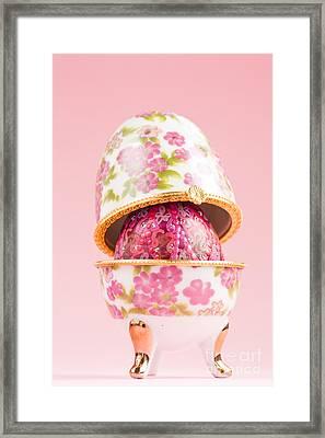 Porcelain Egg Decoration Framed Print by Mythja  Photography