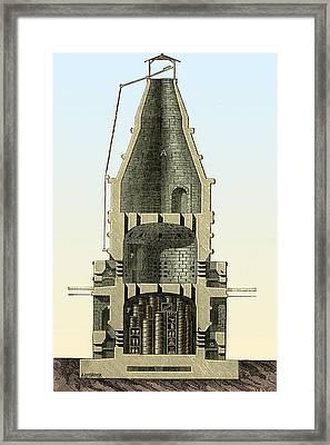 Porcelain Kiln, Nationale De Sevres Framed Print