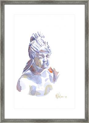 Porcelain Maiden In Watercolor Framed Print