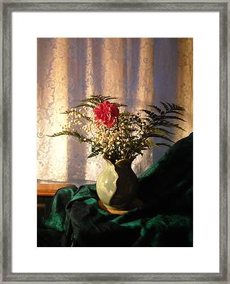 Porcelain Petal Vase 4 In Still Life Framed Print