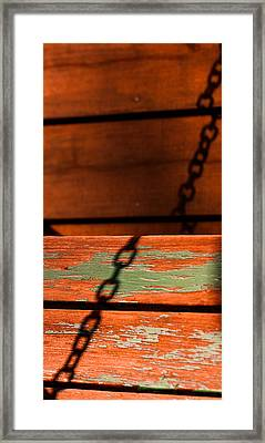 Framed Print featuring the photograph Porch Chain Reflections by Haren Images- Kriss Haren