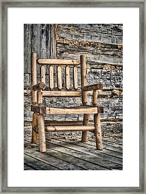 Porch Chair Framed Print by Heather Applegate