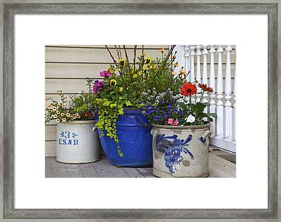 Porch Flowers Framed Print by Steve and Sharon Smith