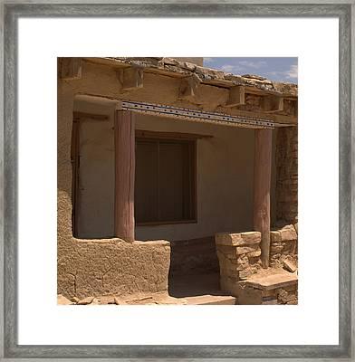 Porch Of Pueblo Home Framed Print
