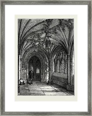 Porch Of St. Sepulchres Church Framed Print by Litz Collection