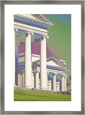 Framed Print featuring the photograph Porch Of State Capitol Richmond Va by Suzanne Powers