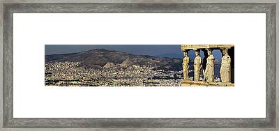 Porch Of The Caryatids Statues Framed Print by Panoramic Images