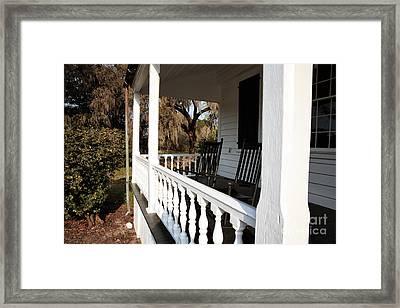 Porch View Framed Print by John Rizzuto