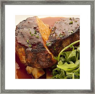Pork Chop Framed Print by New  Orleans Food