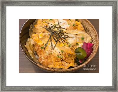 Pork Fried Rice With Egg Framed Print by Tosporn Preede