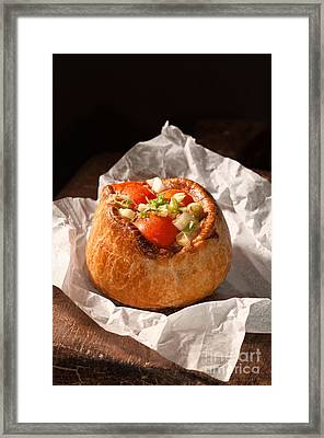 Pork Pie Framed Print by Amanda Elwell