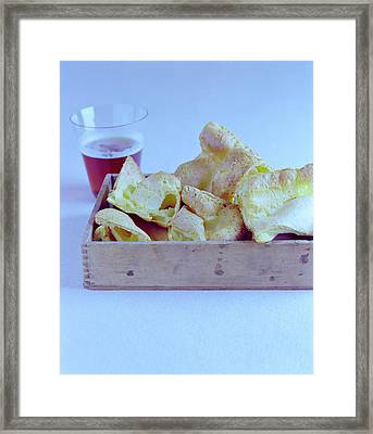 Pork Rinds With A Pint Framed Print by Romulo Yanes