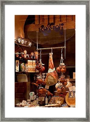 Pork Store Rome Italy Framed Print