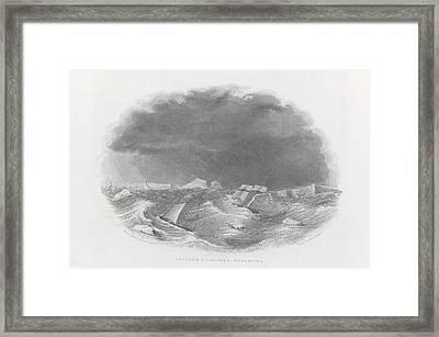 Porpoise And Schooner Separating Framed Print by British Library