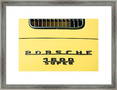 Porsche 1600 Super Rear Emblem Framed Print by Jill Reger