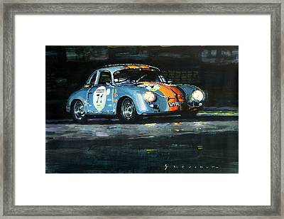 Porsche 356 A 1959 Le Mans Classic 2010 Framed Print