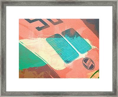 Porsche 356 Detail Framed Print by Naxart Studio